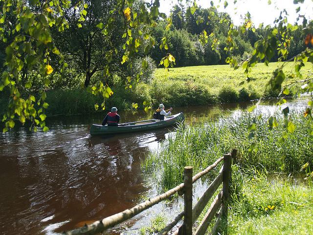 canoeing Raudna River Estonia