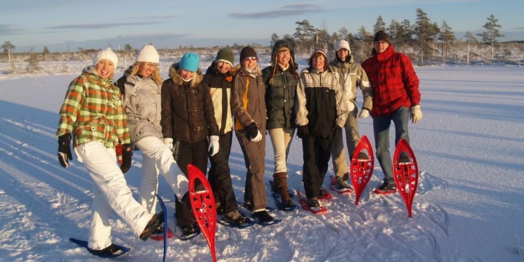 snowshoeing in soomaa