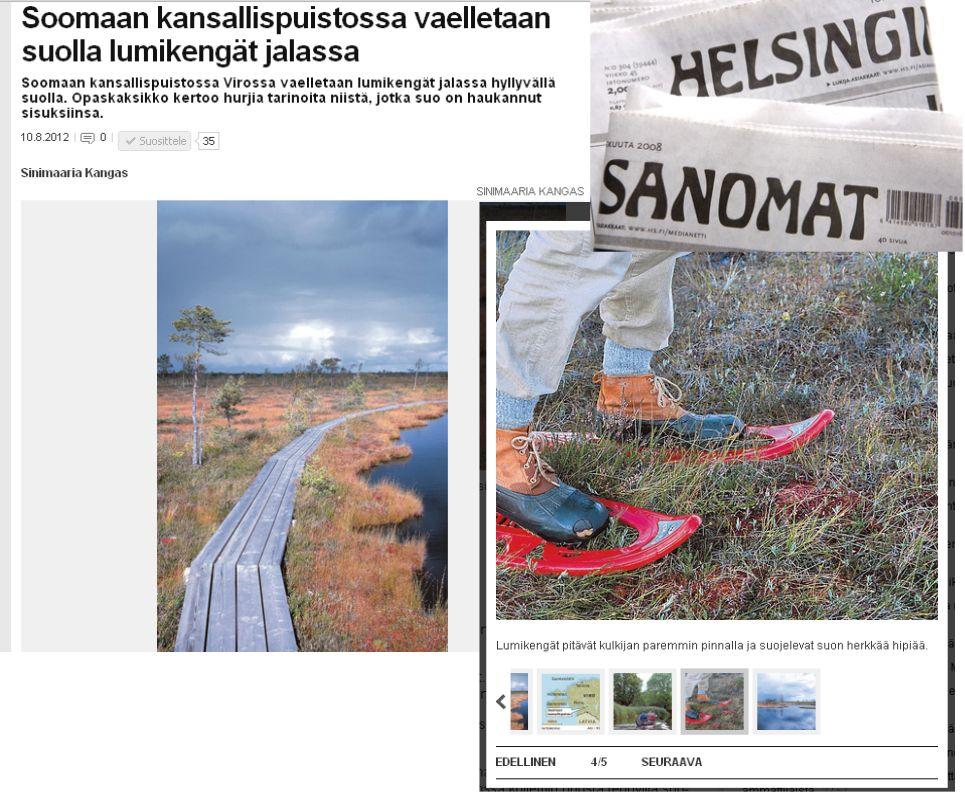 Helsingin Sanomat about Soomaa
